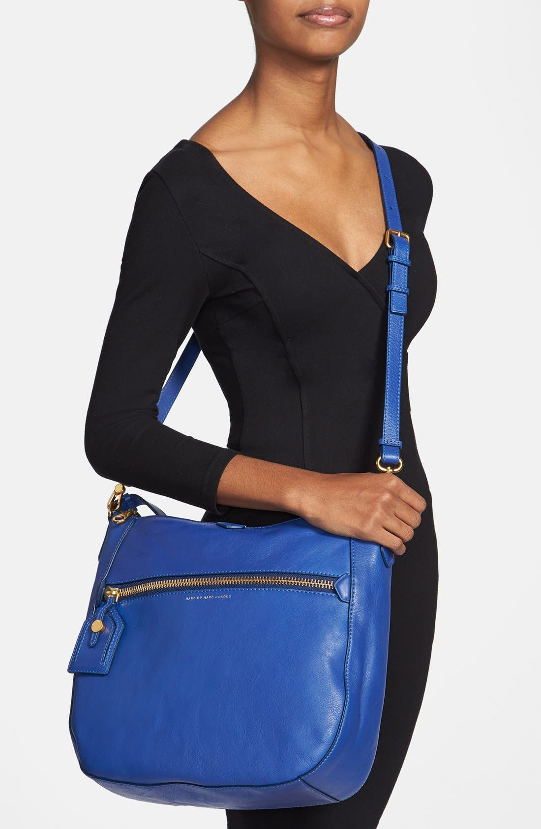 ,                             MARC BY MARC JACOBS 'Globetrotter - Kirsten' Leather Satchel,                             Alternate thumbnail 5, color,                             432