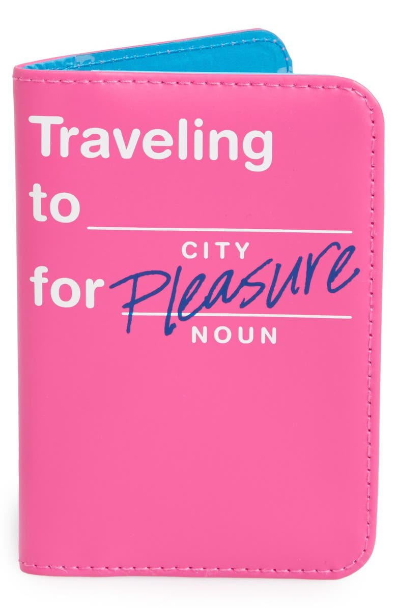 FLIGHT 001 'Traveling to _____ for Pleasure' Passport Cover, Main, color, 650