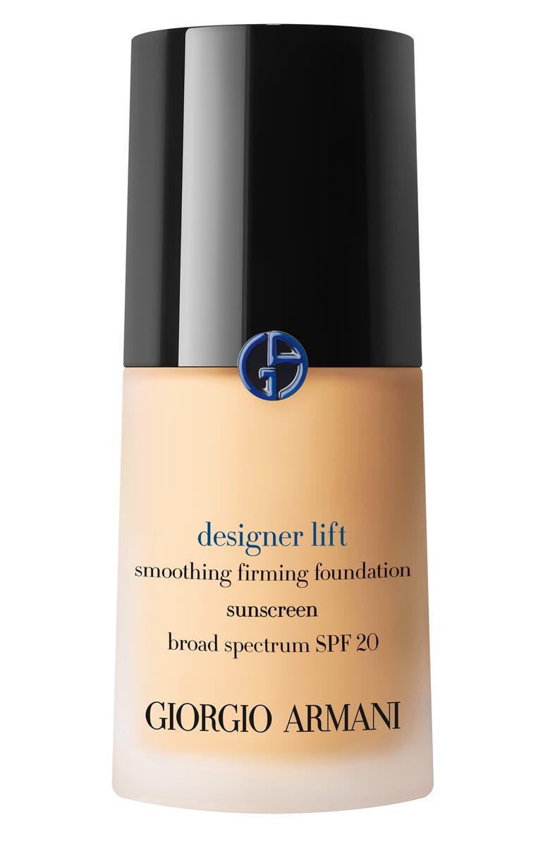 GIORGIO ARMANI Designer Lift Smooth Firming Foundation SPF 20 Sunscreen, Main, color, 02 LIGHT/WARM