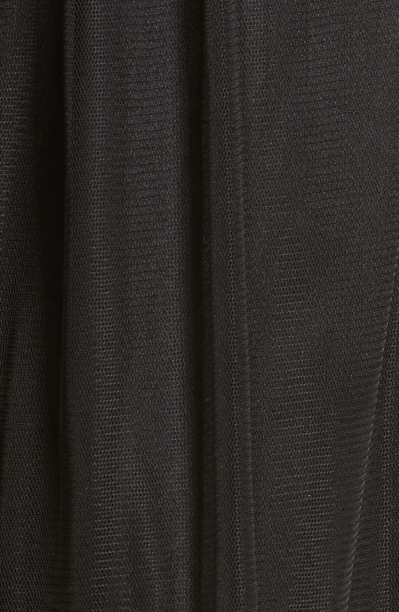 ,                             Tulle Midi Skirt,                             Alternate thumbnail 5, color,                             001