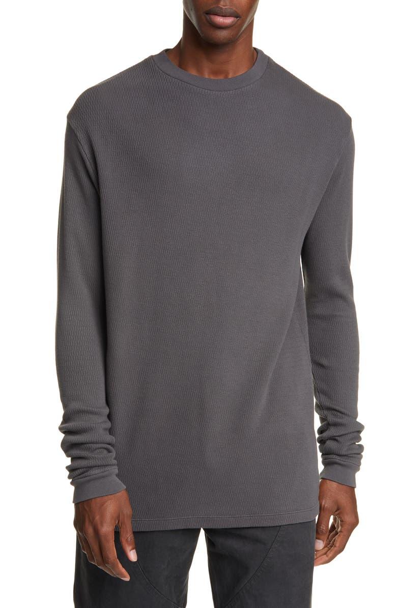BILLY LOS ANGELES Policy of Memory Long Sleeve Thermal T-Shirt, Main, color, HARLEY GREY