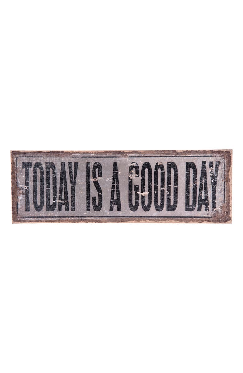 FORESIDE Today Is a Good Day Wall Art, Main, color, GRAY/BROWN/BLACK