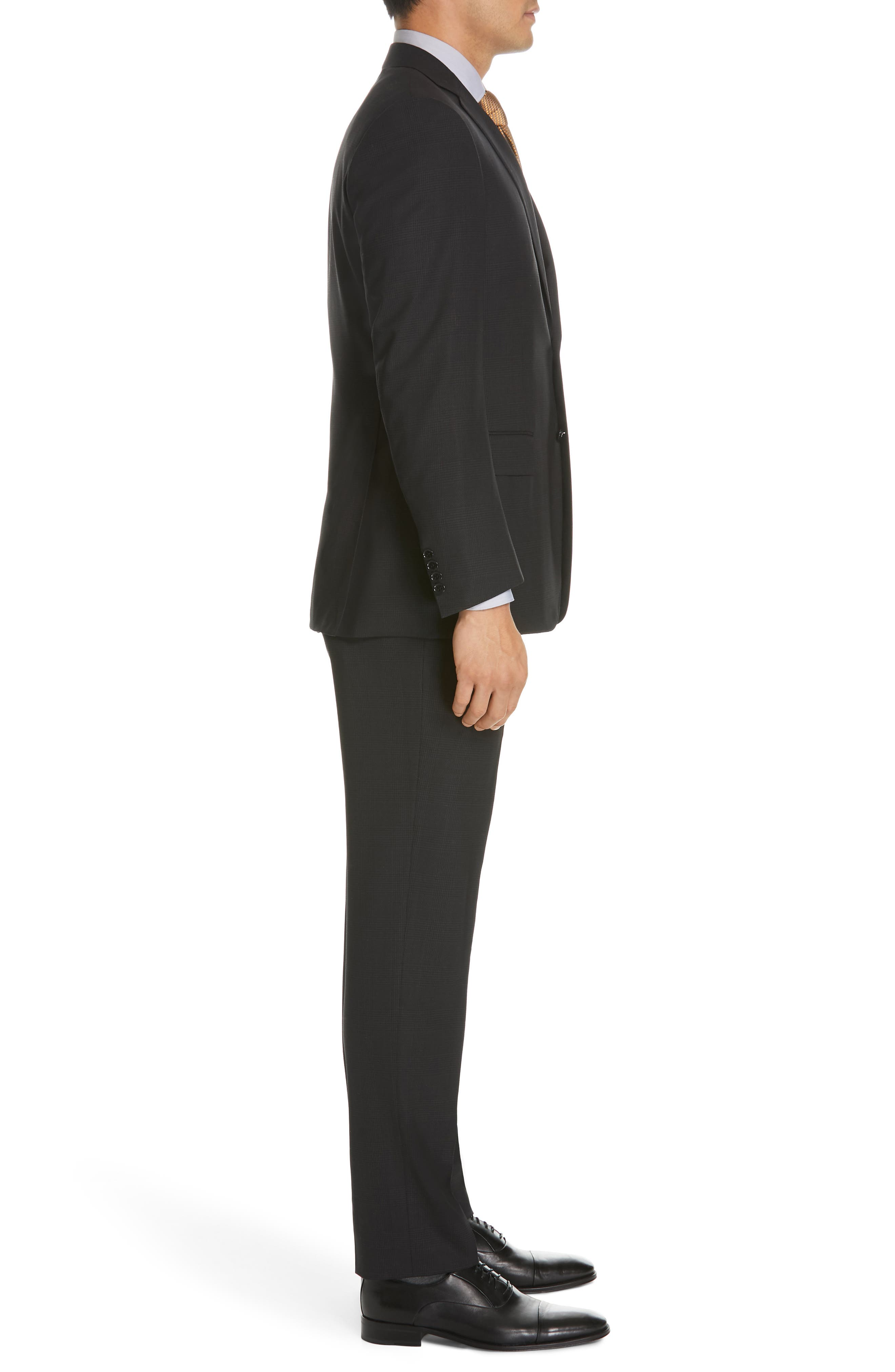 ,                             Sienna Classic Fit Plaid Wool Suit,                             Alternate thumbnail 3, color,                             CHARCOAL