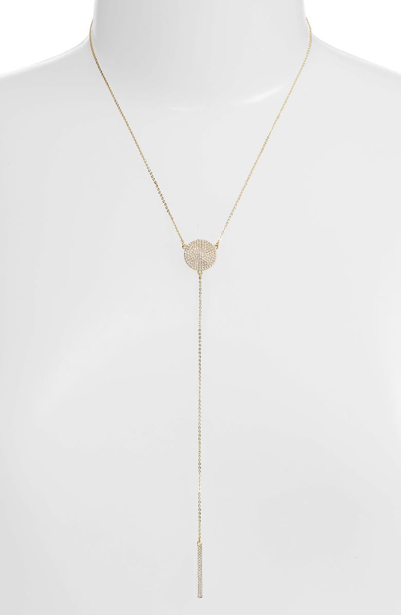 MELINDA MARIA Sydney Baye Lariat Necklace, Main, color, 710