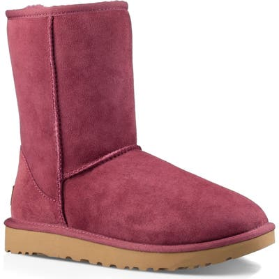 UGG Classic Ii Genuine Shearling Lined Short Boot, Burgundy