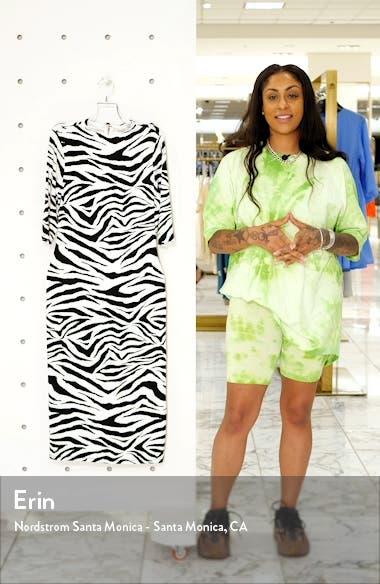 Delora Animal Print Mock Neck Dress, sales video thumbnail