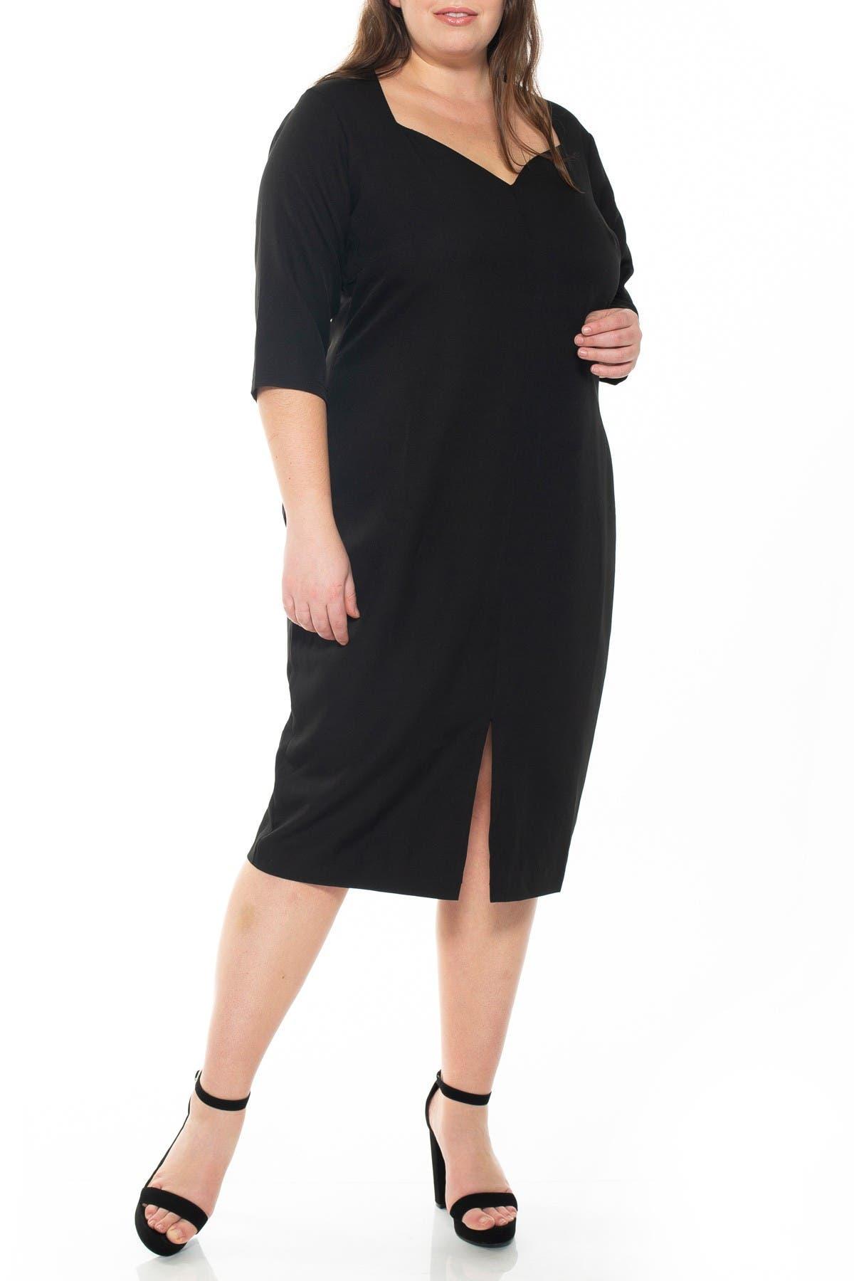 Image of Alexia Admor Michelle Sweetheart 3/4 Sleeve Sheath Dress