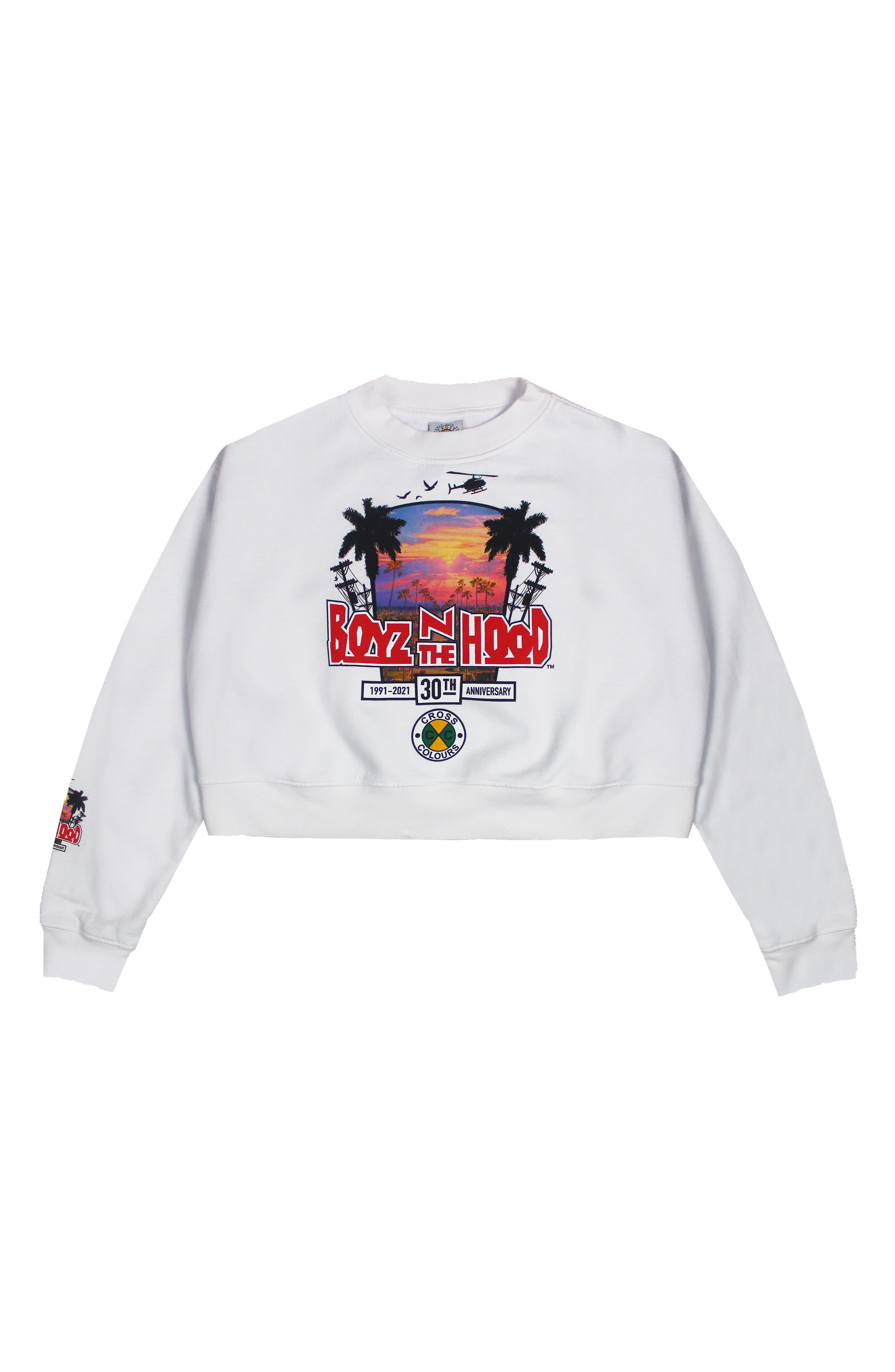Boyz N The Hood Palm Street Crop Sweatshirt