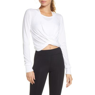 Free People Fp Movement Undertow Crop Tee, White