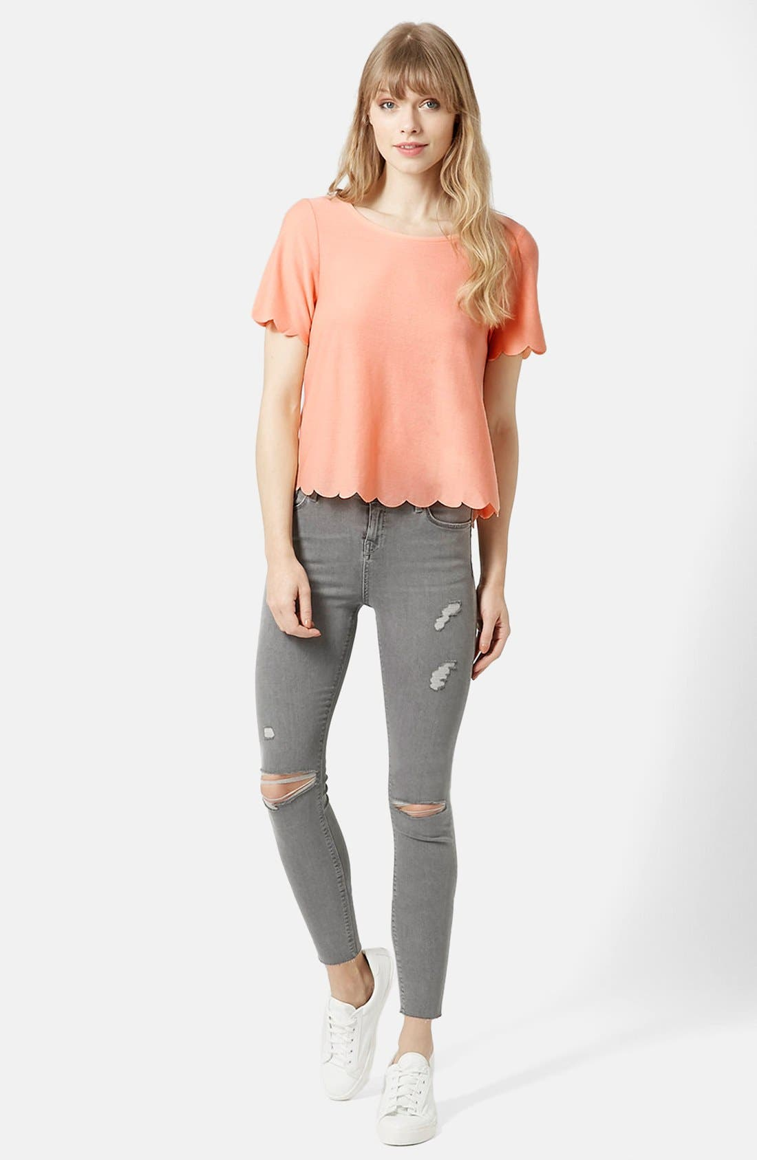 ,                             Scallop Frill Tee,                             Alternate thumbnail 47, color,                             950