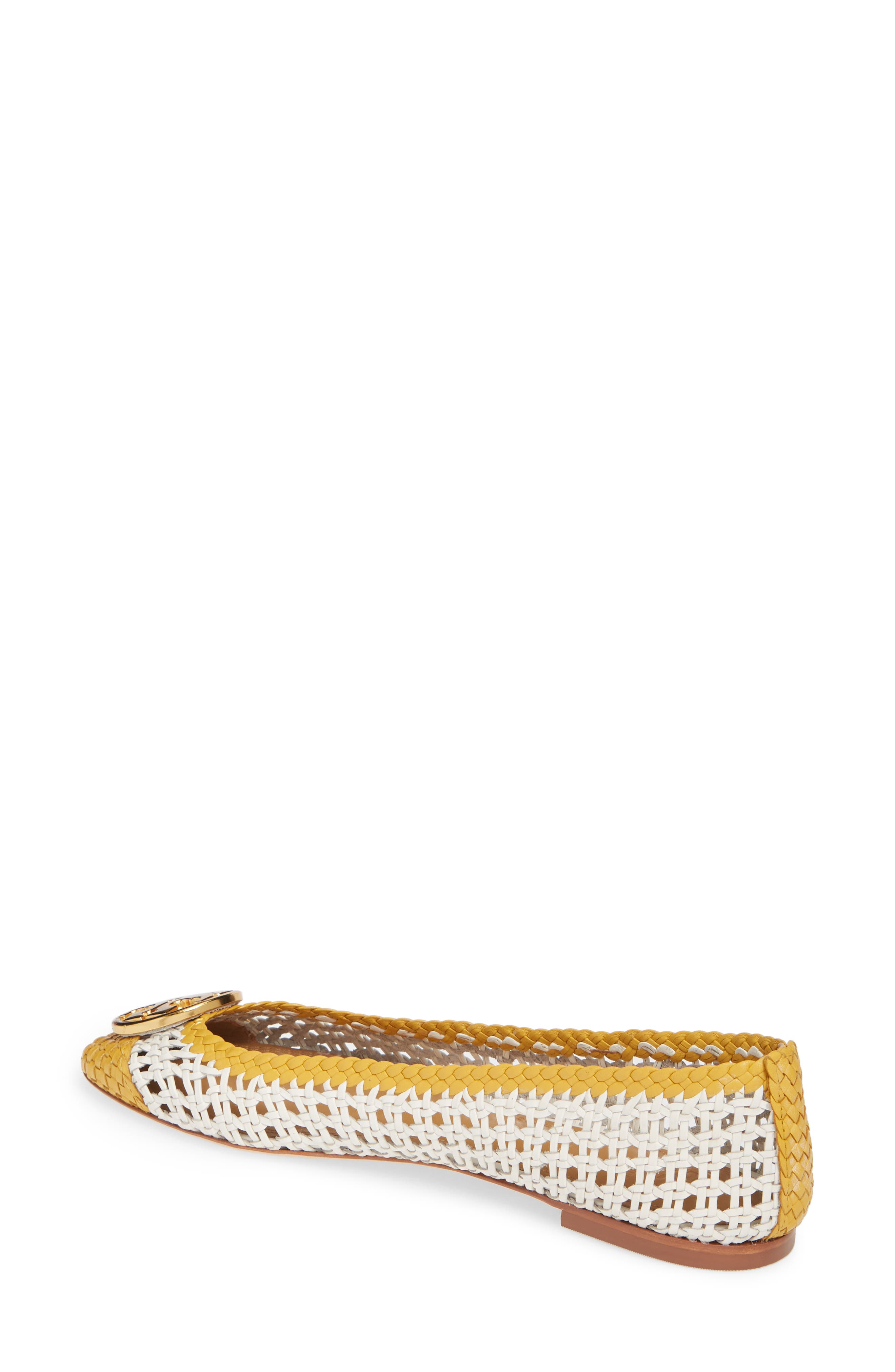 ,                             Chelsea Woven Ballet Flat,                             Alternate thumbnail 2, color,                             PERFECT IVORY/ DAYLILY