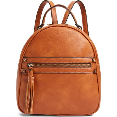Sole Society Faux Leather Backpack - Brown