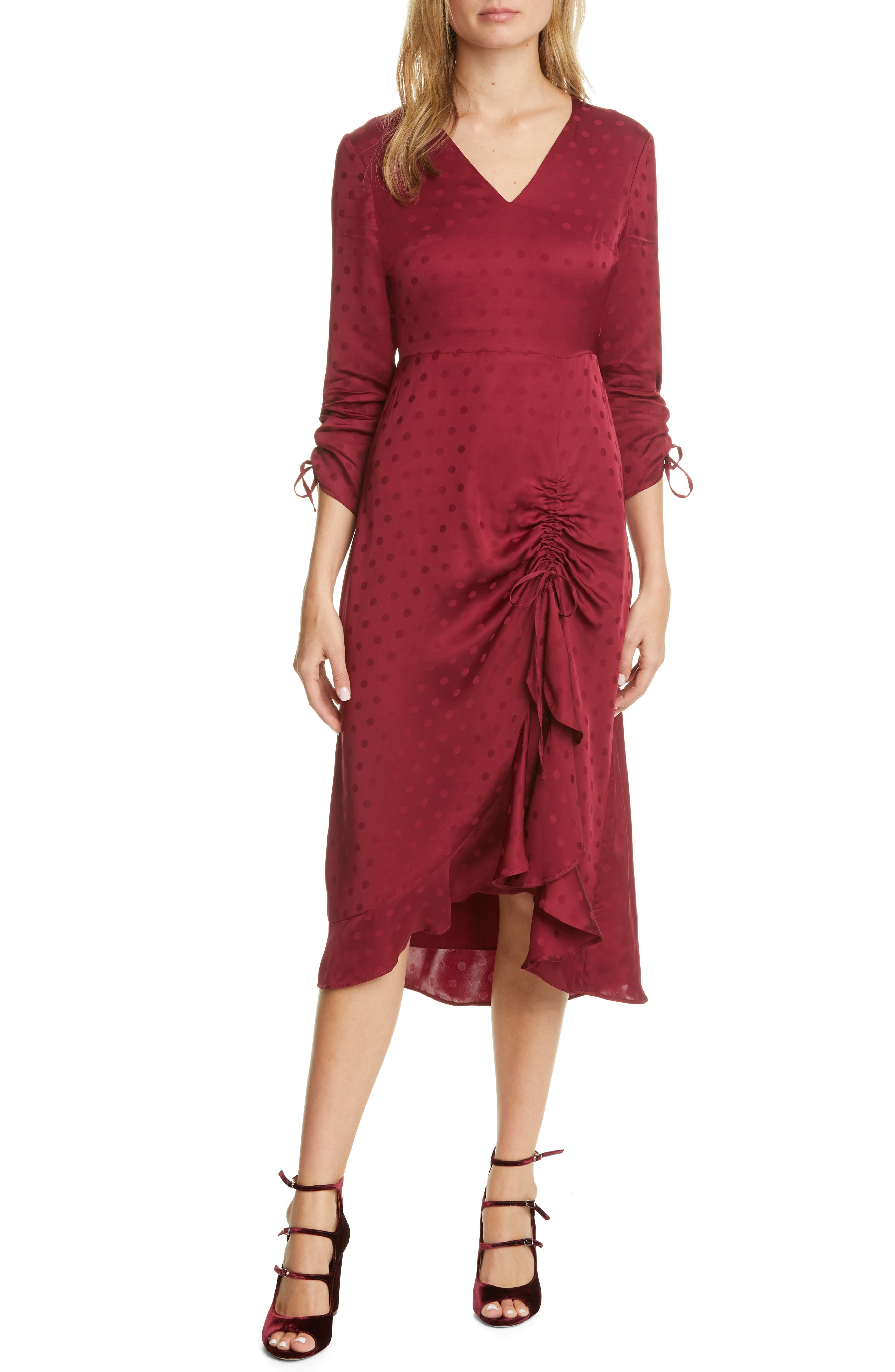 Image of Ted Baker London Rivvaa Ruched Long Sleeve Dress