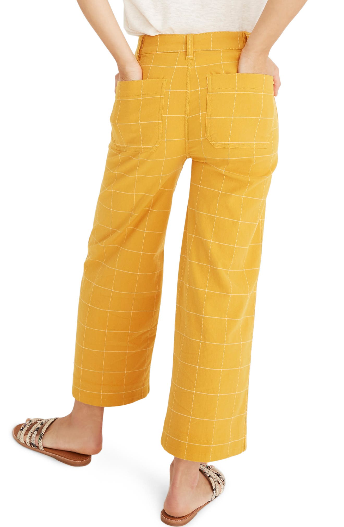 ,                             Emmett Windowpane Crop Wide Leg Pants,                             Alternate thumbnail 2, color,                             WINDOWPANE TUNGSTEN GLOW