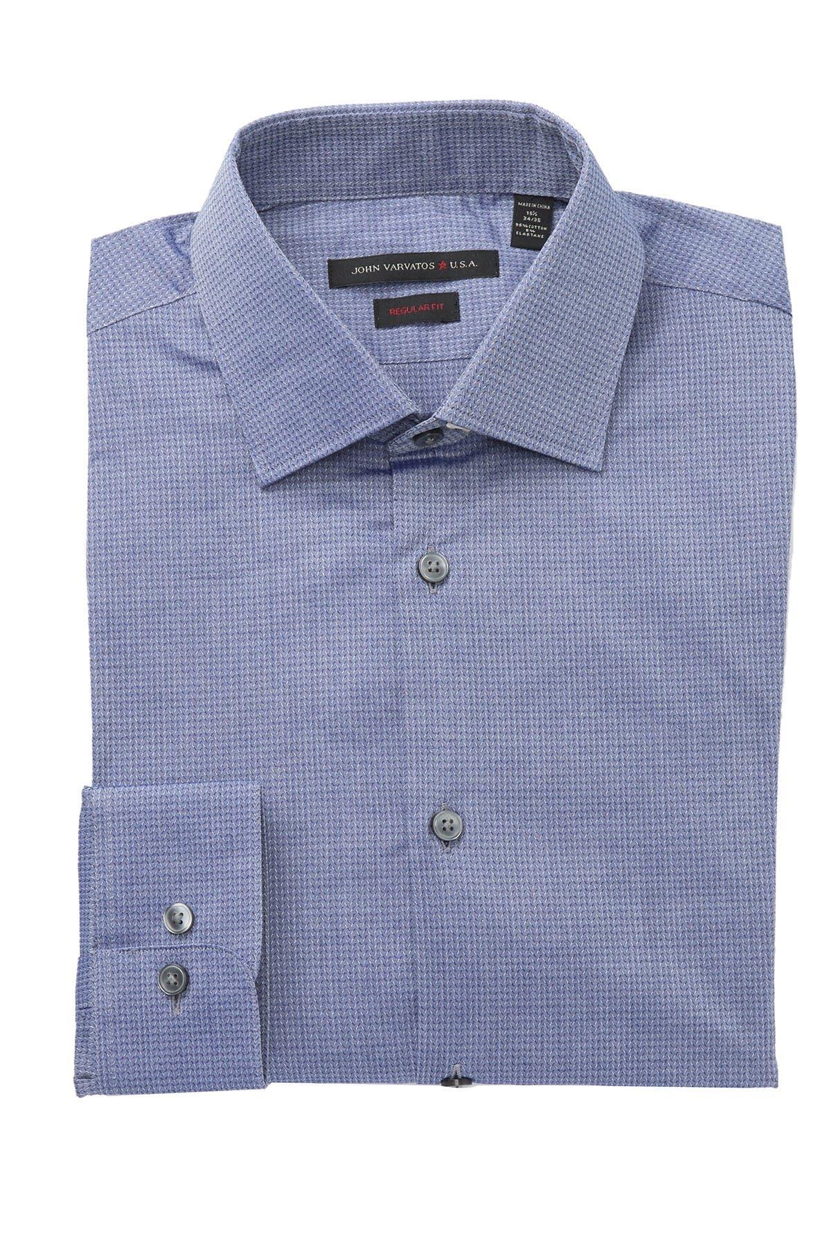 Image of John Varvatos Star USA Geo Print Regular Print Dress Shirt