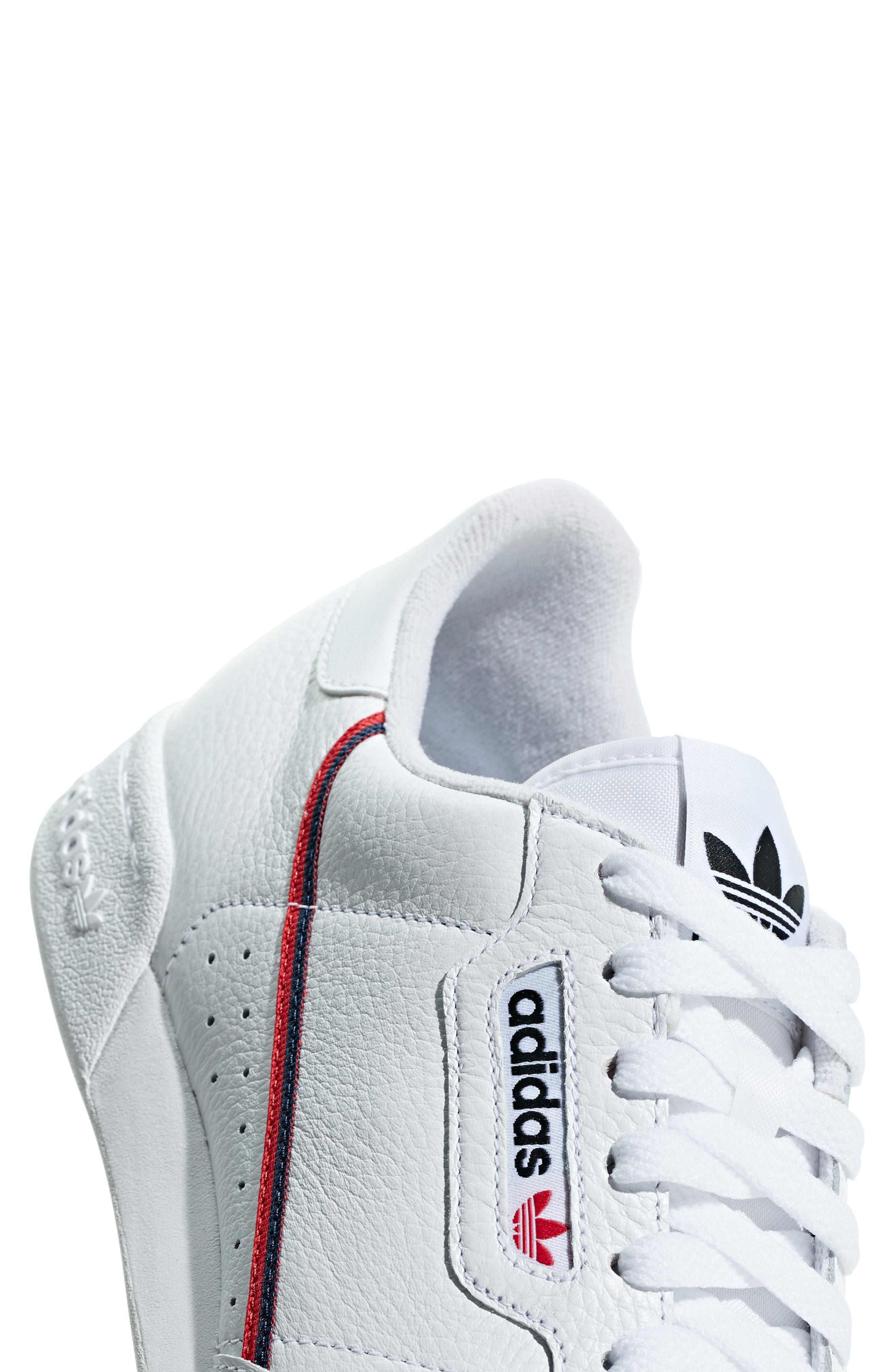 ,                             Continental 80 Sneaker,                             Alternate thumbnail 6, color,                             WHITE/ SCARLET