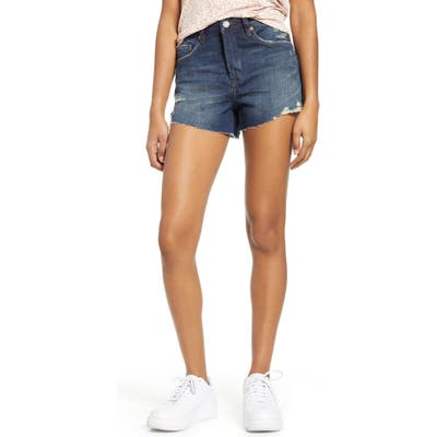 Blanknyc The Barrow Distressed Denim Shorts, 7 - Blue