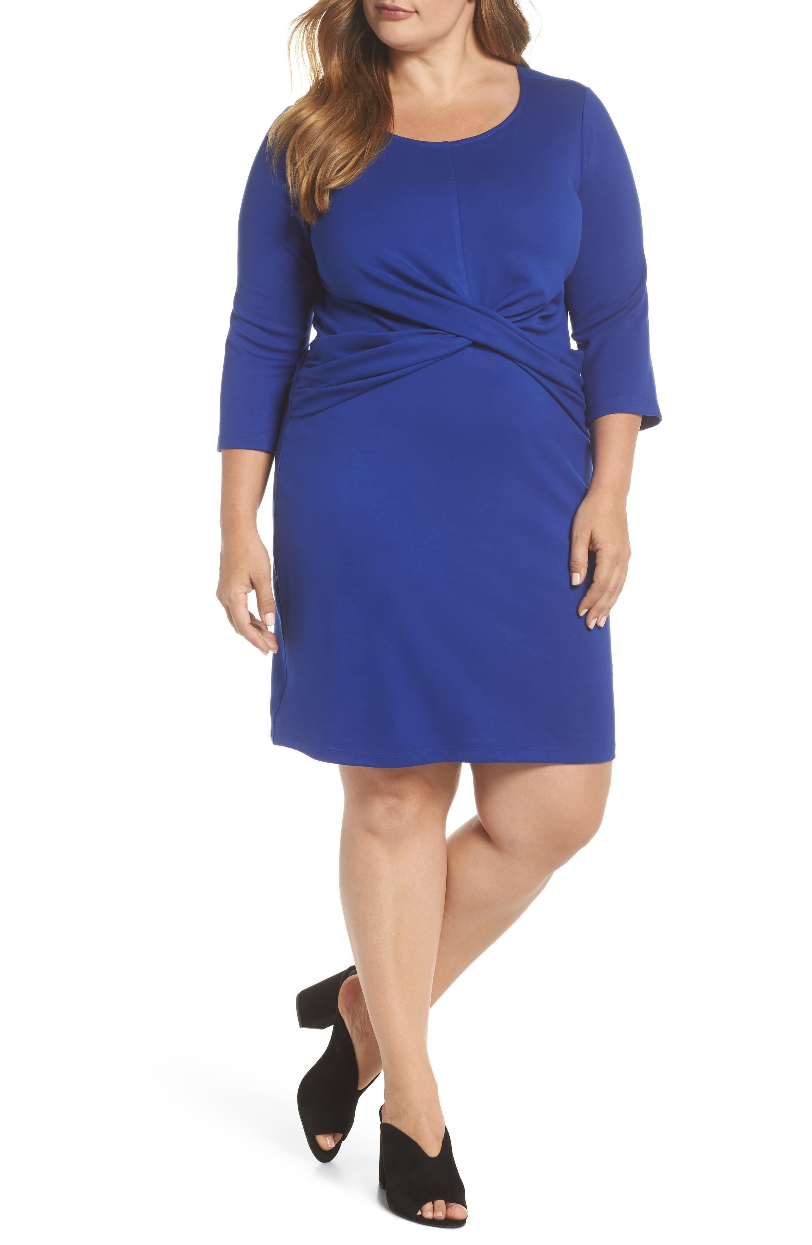 Plus Size Gibson Sheath Dress, Blue