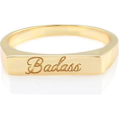 Kris Nations Engraved Ring