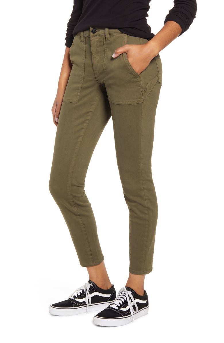 BLANKNYC The Madison Carpenter Crop Skinny Pants, Main, color, PICKLE BACK