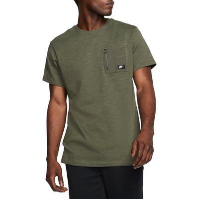 Nike Tech Pack Zip Pocket T-Shirt, Green