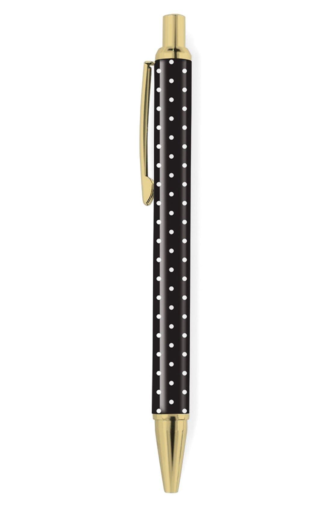 ,                             'Pas - Black & White Dot' Retractable Metal Ballpoint Pen,                             Main thumbnail 3, color,                             100