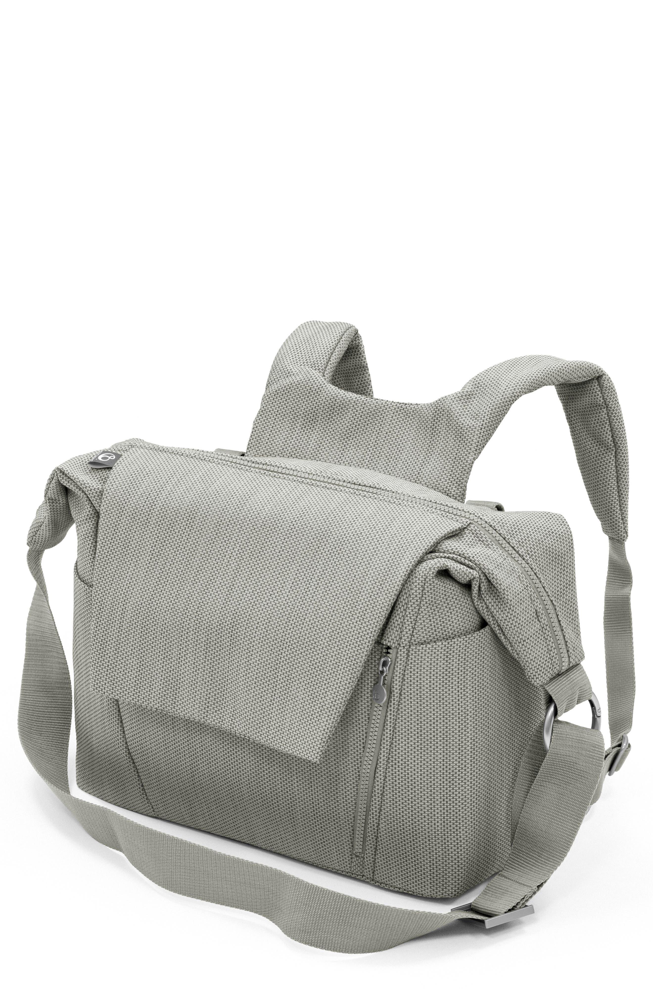 Convertible Diaper Bag, Main, color, BRUSHED GREY