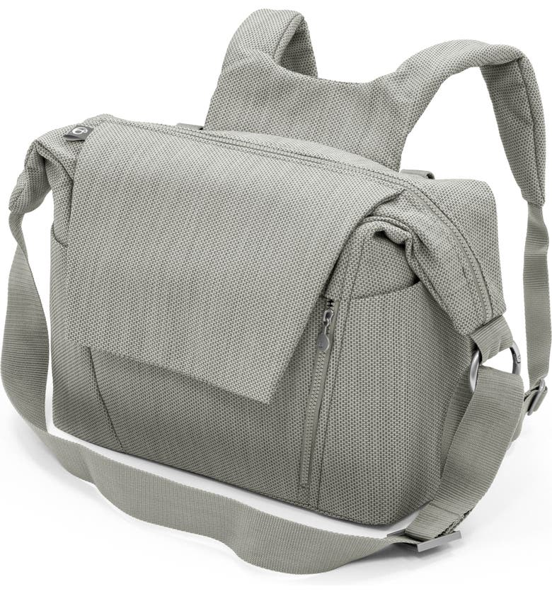 STOKKE Convertible Diaper Bag, Main, color, BRUSHED GREY