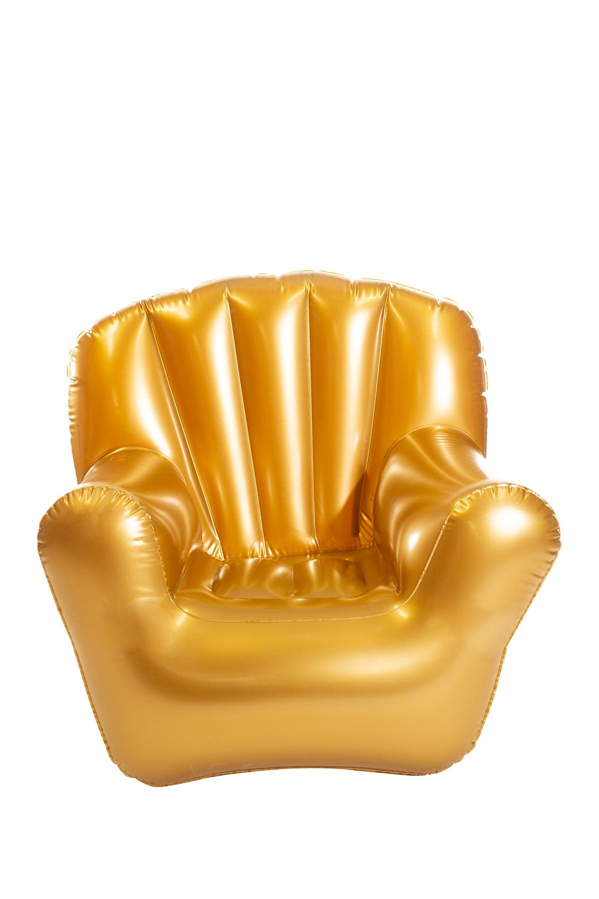 Image of POOLCANDY AirCandy Inflatable Jumbo Size Classic Arm Chair - Metallic Gold