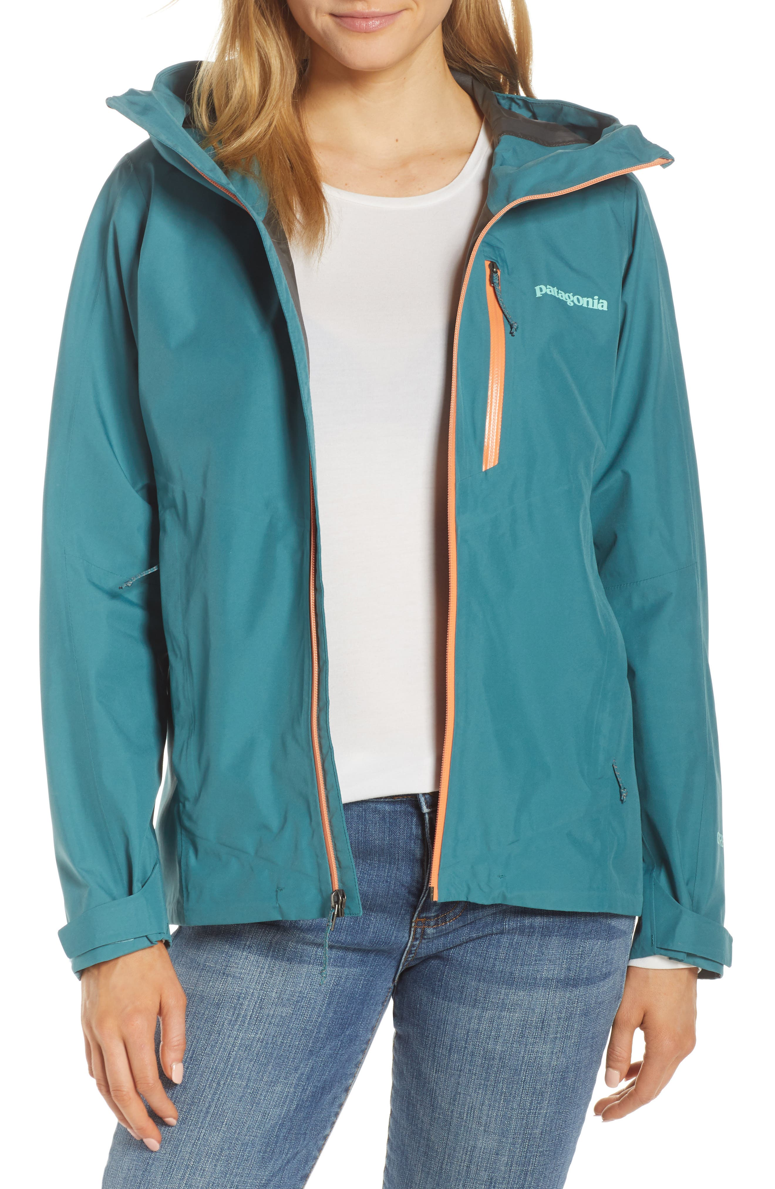 Patagonia Calcite Hooded Jacket, Blue/green