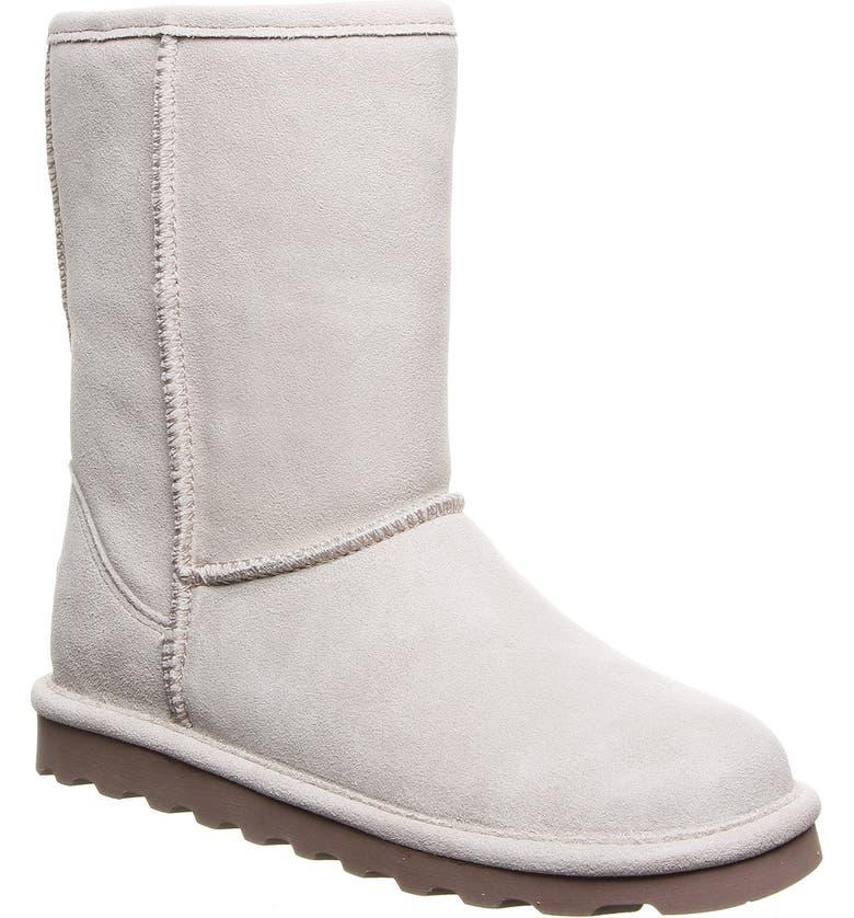 BEARPAW Elle Genuine Sheepskin Waterproof Boot, Main, color, WINTER WHI