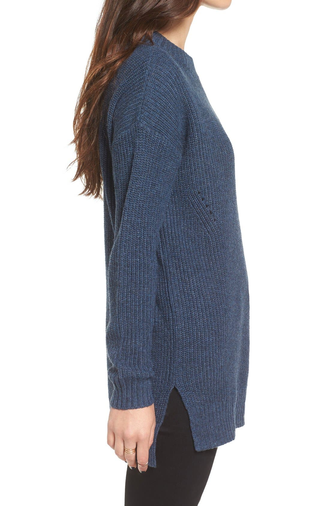 ,                             Ribbed Mock Neck Pullover,                             Alternate thumbnail 19, color,                             401