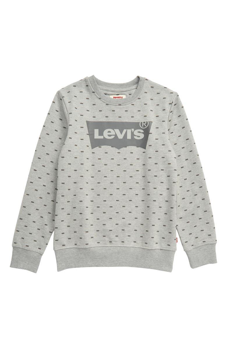 LEVI'S<SUP>®</SUP> Batwing Logo Crewneck Sweatshirt, Main, color, 020