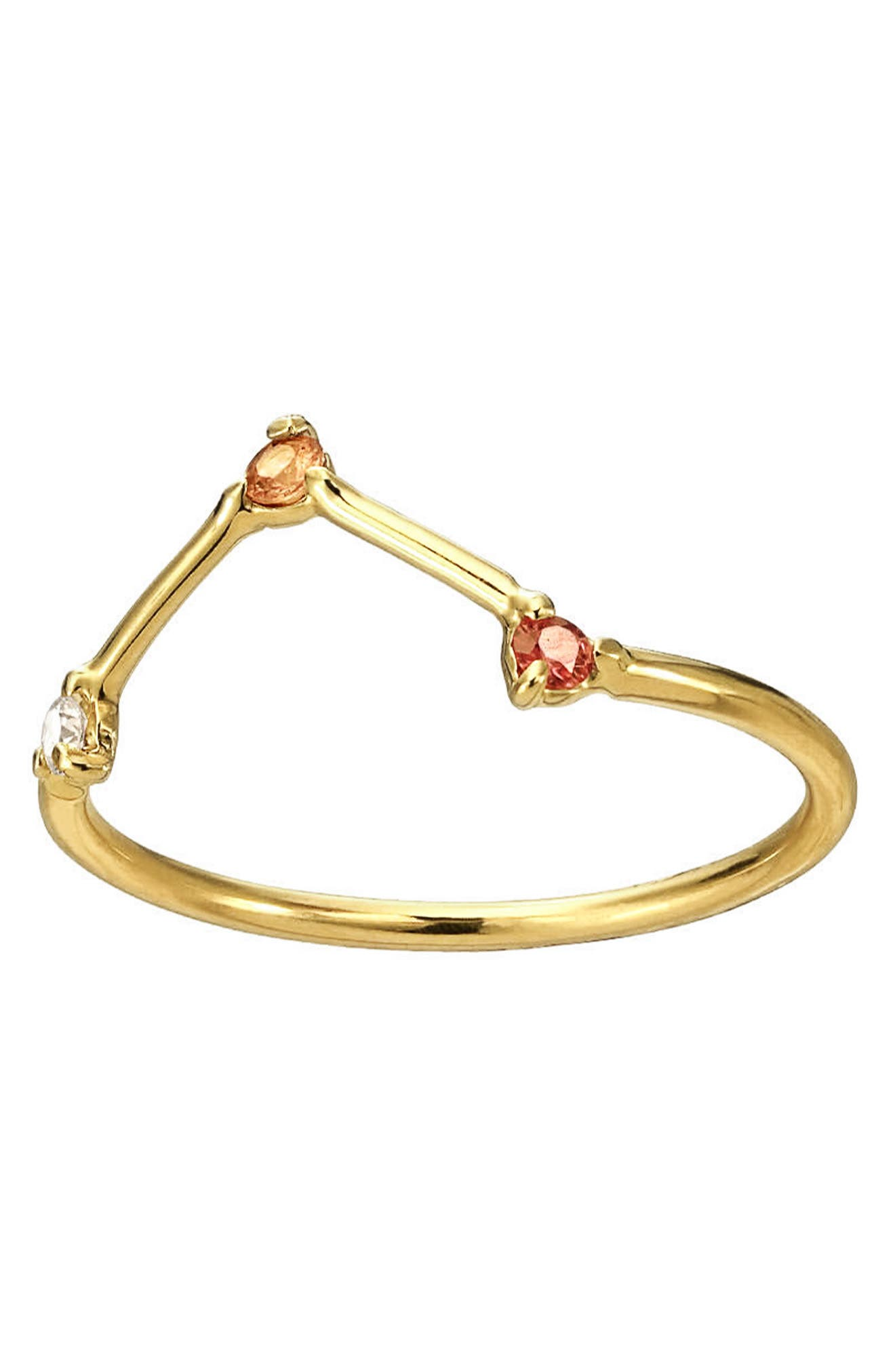,                             Counting Collection Three-Step Triangle Sapphire & Diamond Ring,                             Alternate thumbnail 2, color,                             PINK TOURMALINE WHITE DIAMOND