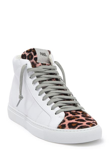 Image of P448 Star Leather High Top Sneaker
