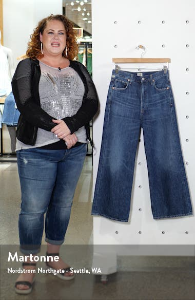 Sacha High Waist Crop Wide Leg Jeans, sales video thumbnail