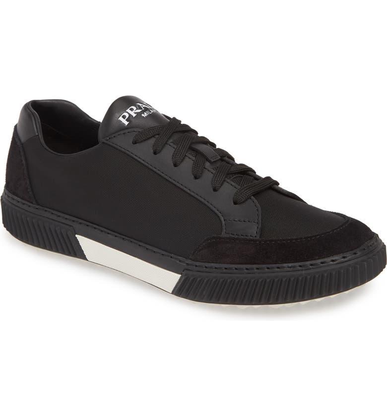 PRADA LINEA ROSSA Stratus Low Top Sneaker, Main, color, NERO/ BIANCO