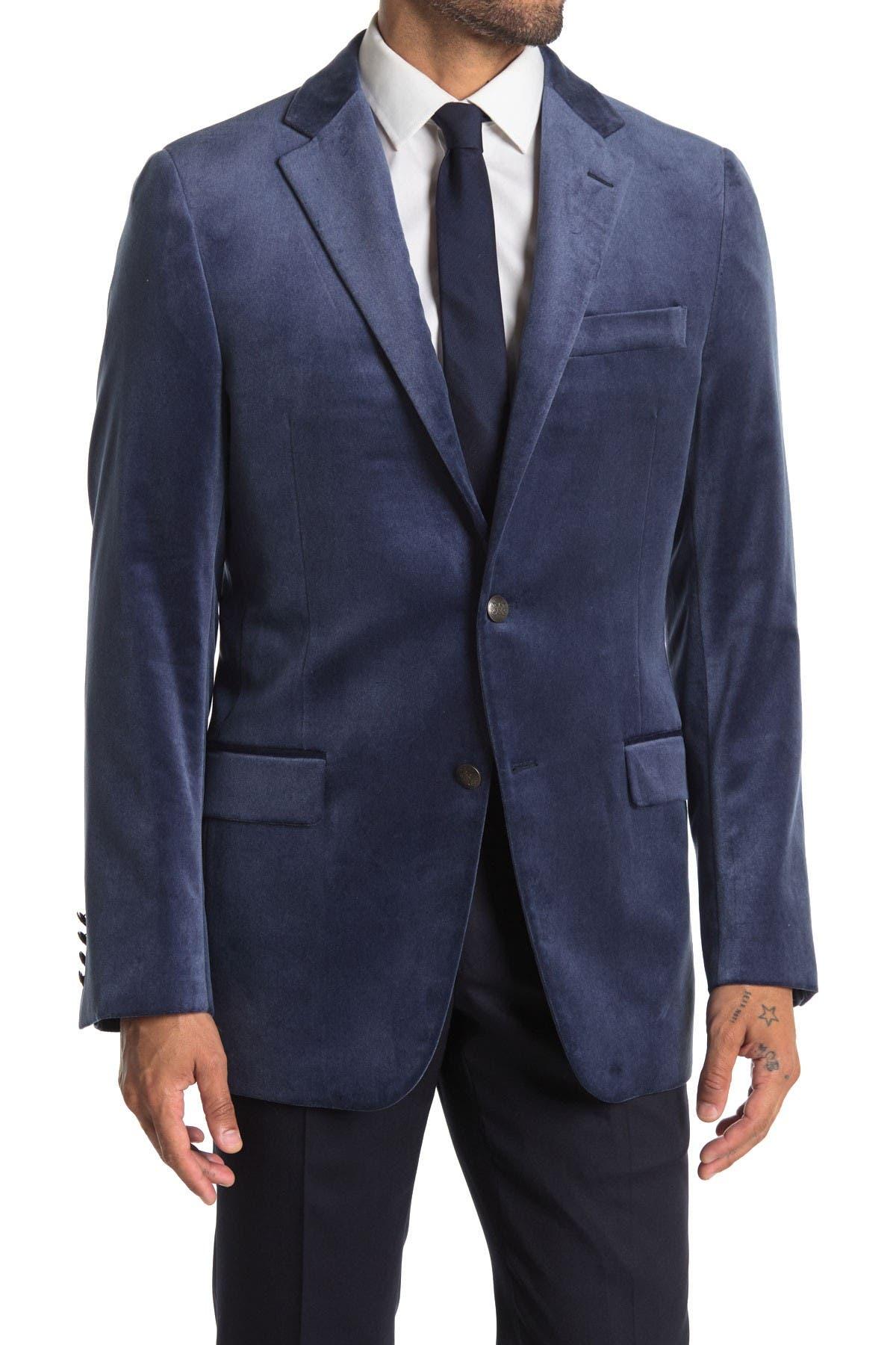 Image of Hickey Freeman Modern Fit Velvet Cashmere Sport Coat