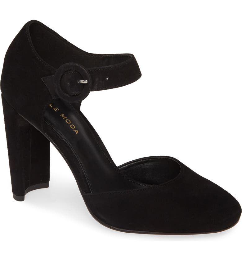 PELLE MODA Pierce Pump, Main, color, BLACK SUEDE