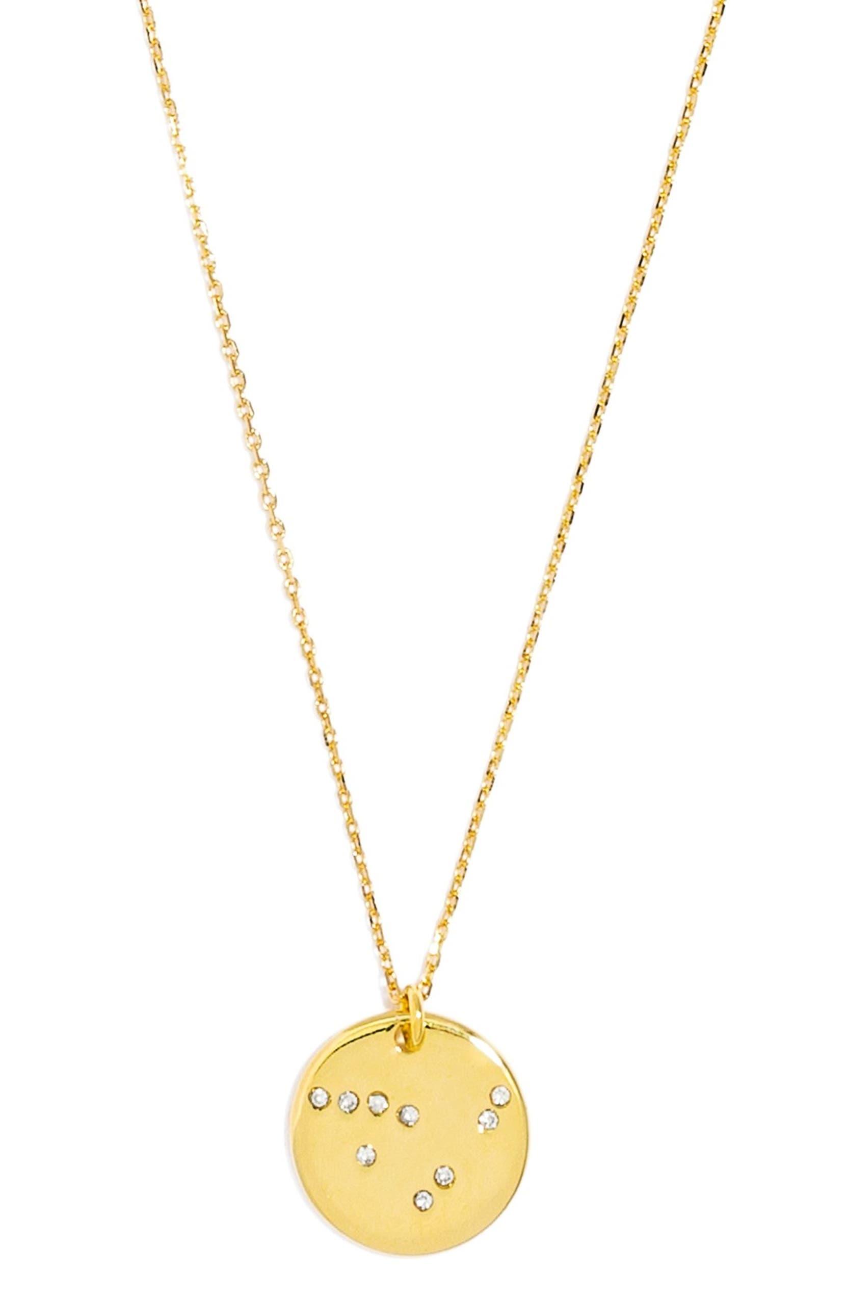 'Zodiac Constellation' Pavé Crystal Pendant Necklace