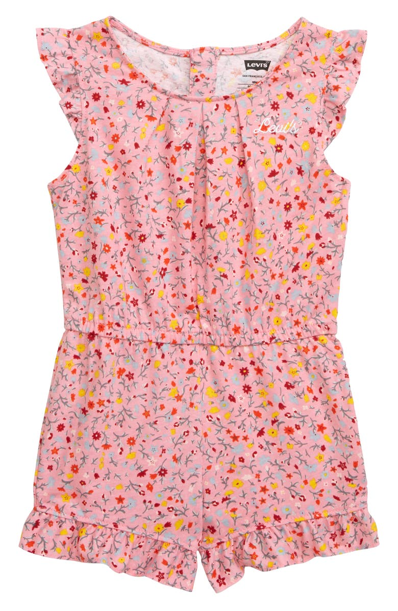 LEVI'S<SUP>®</SUP> Print Knit Ruffle Romper, Main, color, 671