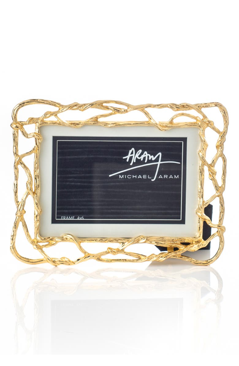 MICHAEL ARAM Wisteria Gold Picture Frame, Main, color, 710