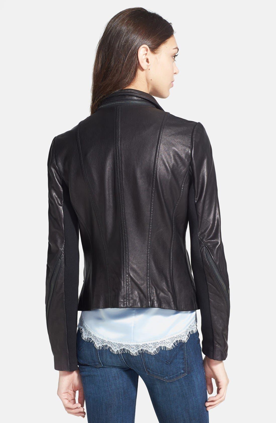 ,                             Zip Detail Moto Jacket,                             Alternate thumbnail 2, color,                             001
