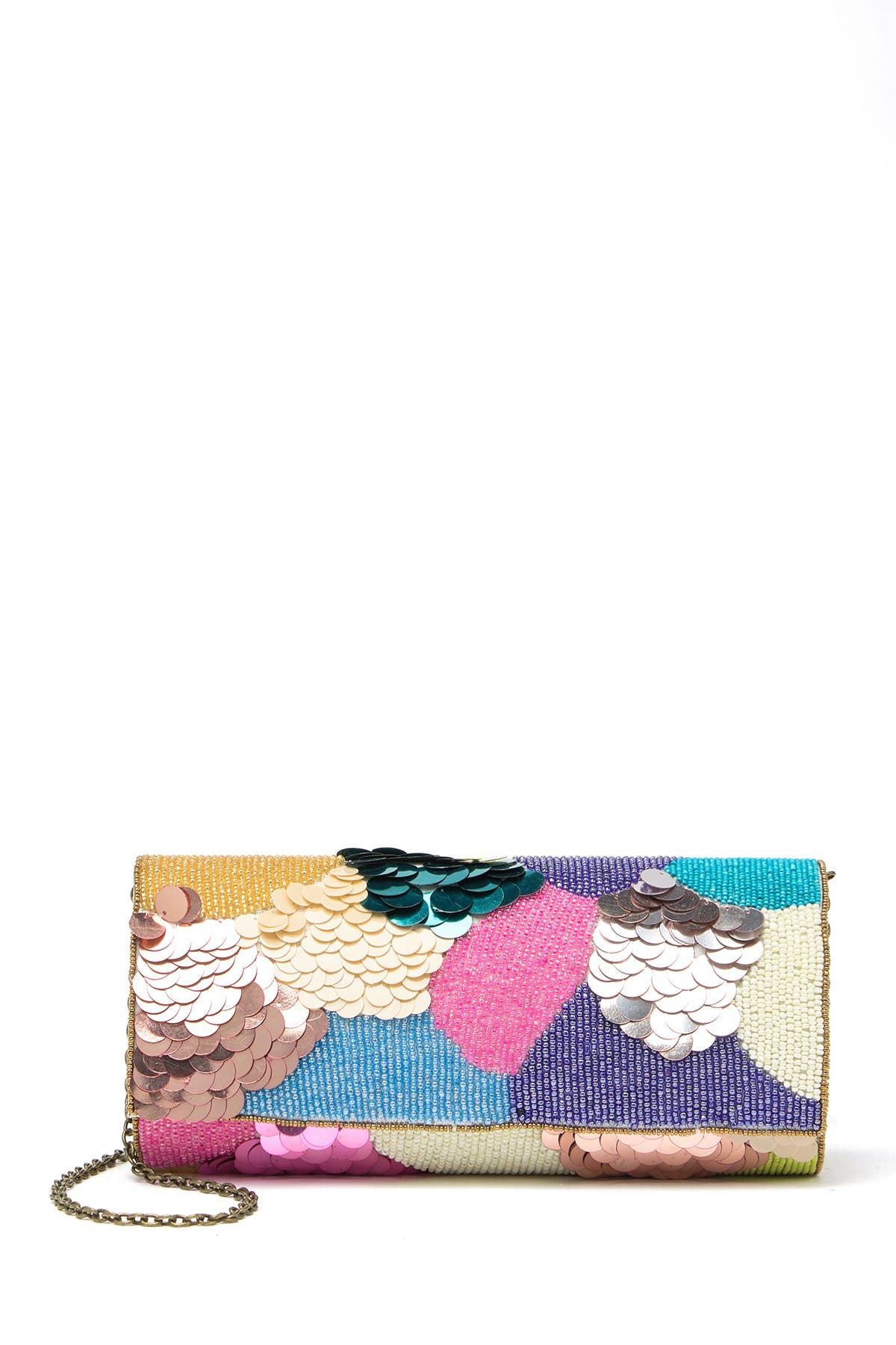 Image of G-Lish Bead & Sequin Foldover Clutch