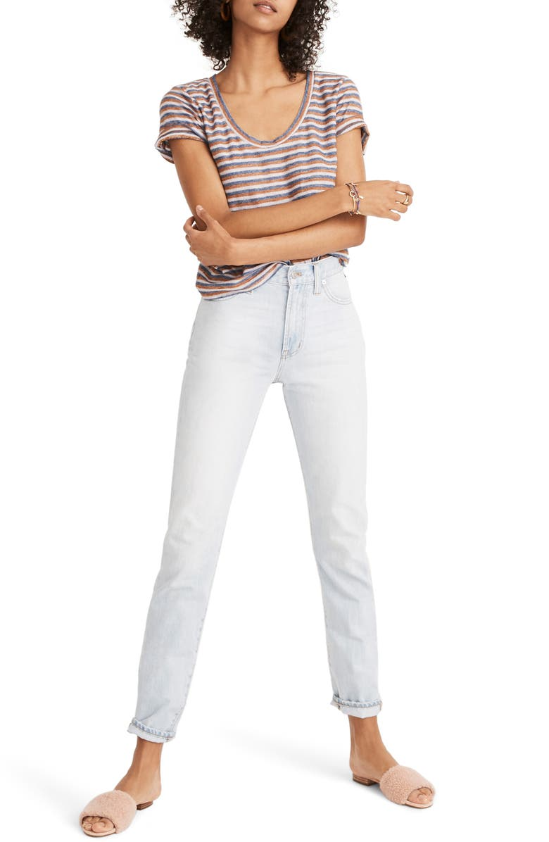 MADEWELL 'Perfect Summer' High Rise Ankle Jeans, Main, color, FITZGERALD WASH