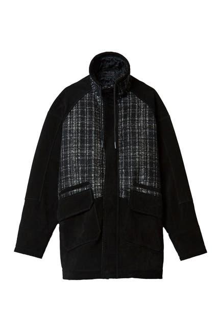 Image of BALDWIN Montez Stand Collar Leather Jacket