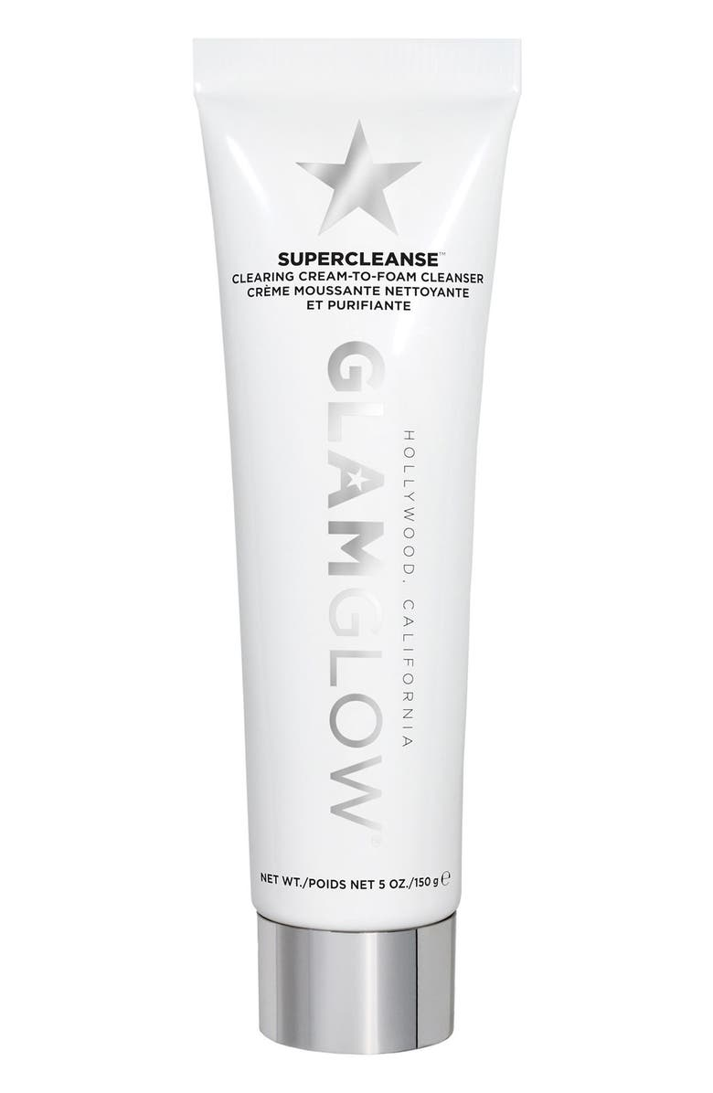 GLAMGLOW<SUP>®</SUP> SUPERCLEANSE<sup>™</sup> Clearing Cream-to-Foam Cleanser, Main, color, NO COLOR
