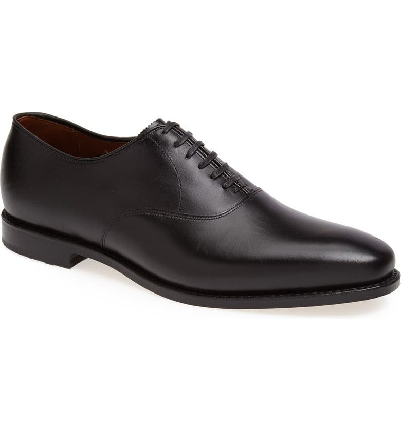 ALLEN EDMONDS Carlyle Plain Toe Oxford, Main, color, BLACK LEATHER
