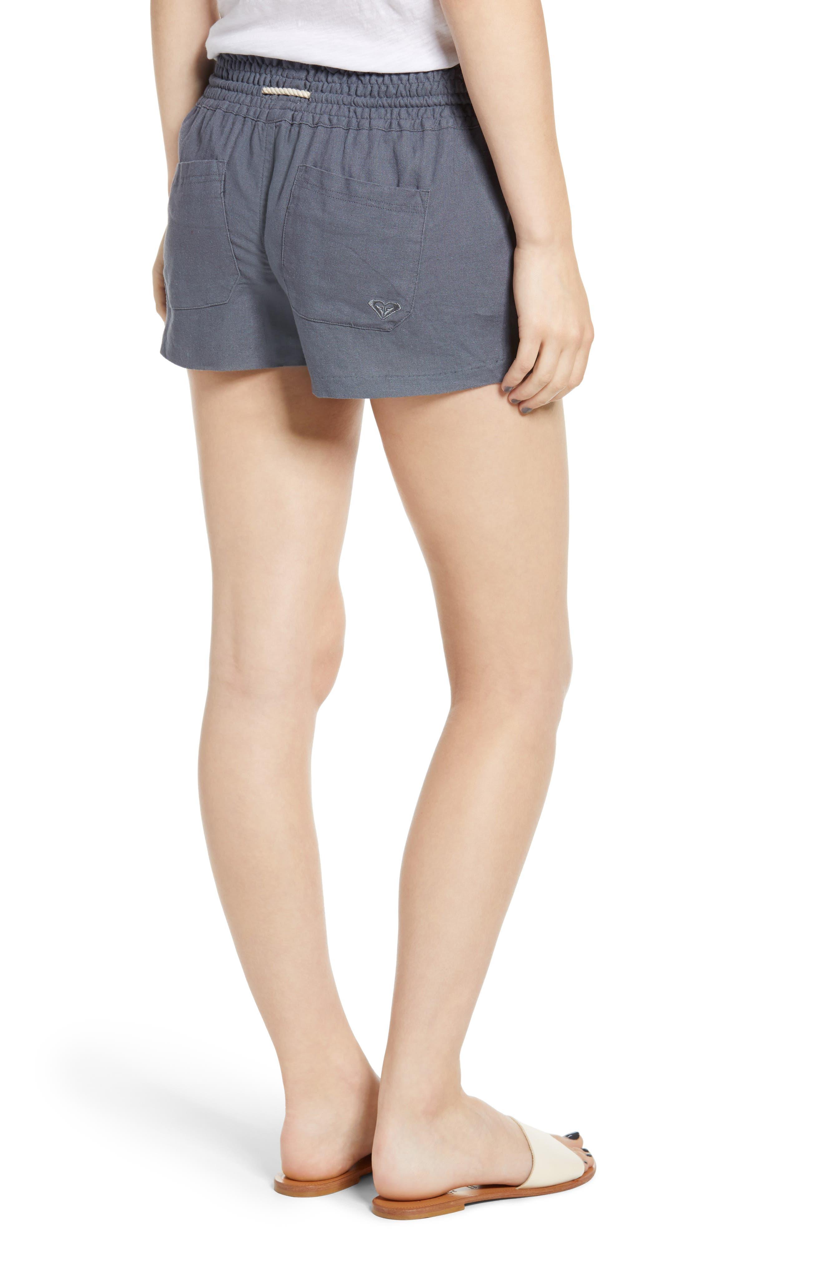 ,                             'Oceanside' Linen Blend Shorts,                             Alternate thumbnail 2, color,                             020