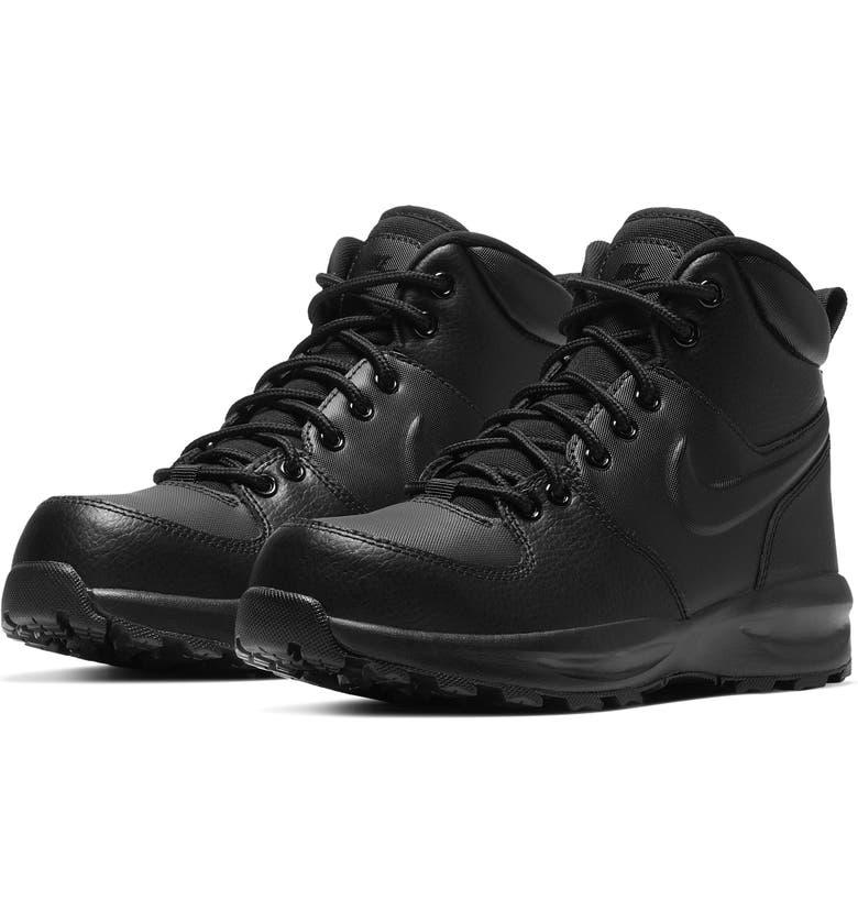 NIKE Manoa High Top Sneaker, Main, color, BLACK/ BLACK/ BLACK